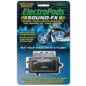 Streetfx Street FX 1043937 ElectroPods Black Motor Cycle Sound FX Module
