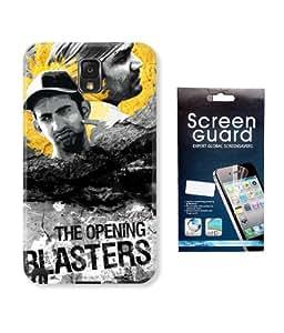 KolorEdge IPL Back case + Screen Protector for Samsung Galaxy Note 3 - Multicolor