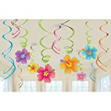 Luau Swirl Hanging Decorations Value Pack (Each)