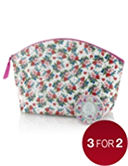 Floral Collection Vintage Forget-Me-Not Toiletry Bag