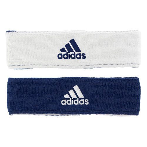 Adidas Interval Reversible Headband, Collegiate Navy/White / White/Collegiate Navy, One Size Fits All front-637977