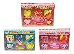 Set Of 3 Love Eraser Eraser Cartoon Animals Eraser Random Color