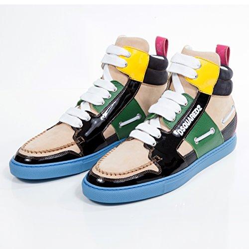 Dsquared2 Herren Schuhe Sneaker Nabuk Leder Mehrfarbig gr. 43 thumbnail