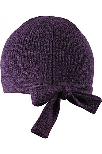 ANTA Q'ULQI - Berretto malva a maglia con laccio 100% in lana di baby alpaca - viola, Taglia unica