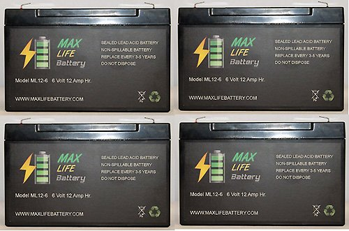 6V 12Ah F2 Ups Battery For China Storage Battery Gp6110F2 - 4 Pack