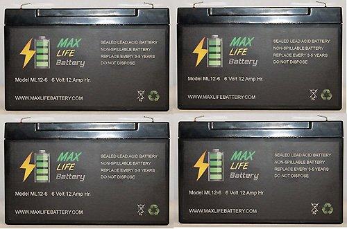 National Battery C18A (Rb6100) 6V 10Ah - 4 Pack