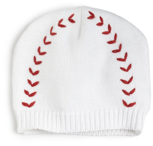 Mud Pie Baby-Boys Infant Baseball Hat, White/Red, 12-18 Months front-575914