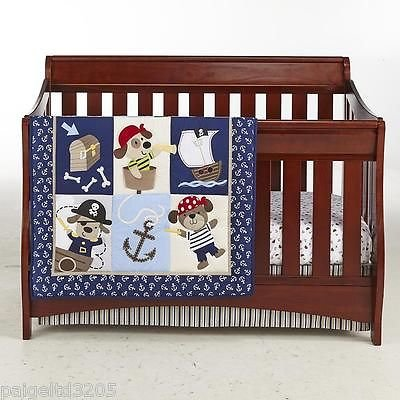 Cuddle Time 3 Piece Nursery Set Puppy Pirates Collection - 1