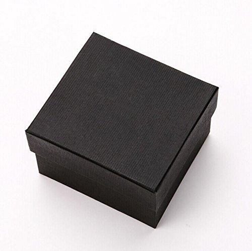 Vale® de Nice Coffrets cadeaux Case For Bangle Bijoux Bague Boucles d'oreilles bracelet Box - Noir