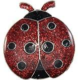 Navika Ladybug Glitzy Ball Marker with Hat Clip