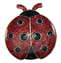 Navika Ladybug Glitzy Ball Marker with Hat Clip