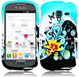 Samsung T599 Galaxy Exhibit ( Metro PCS , T-Mobile ) Phone Case Accessory Classic Flowers Hard Snap On Cover with Free Gift Aplus Pouch