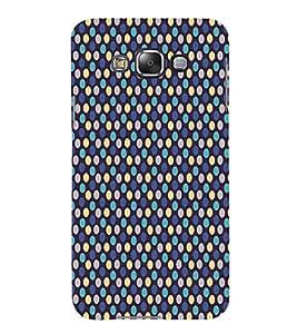 Blue Yellow Dots Pattern 3D Hard Polycarbonate Designer Back Case Cover for Samsung Galaxy E7 :: Samsung Galaxy E7 E700F (2015)