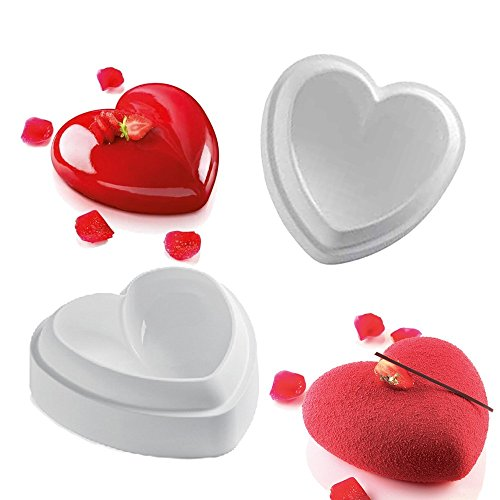 Valentine Heart Design Silicone Mold For Mousse Cake Pudding Brownie Breads Brownie Custard (Odorless Deep Fryer compare prices)