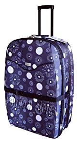 "31"" (110 Litres) Wheeled Trolley Suitcase Strong Luggage Expandable Brownish Black Printed Amazing Offer"