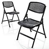 サンワダイレクト 折りたたみ椅子 軽量 メッシュ シンプルデザインチェア  150-SNCH007BK