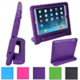 HDE Kids Light Weight Shock Proof Handle Case for iPad 2/3/4/mini (iPad 2/3/4, Purple)