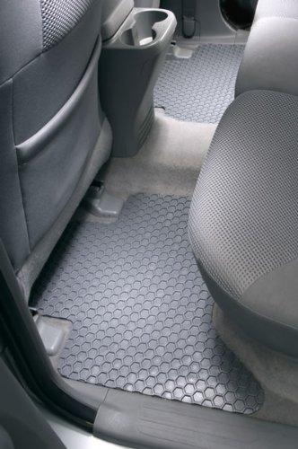 Hexomat custom all weather floor mats for 2001-06 Chevrolet Pickup Fullsize crew cab H.D.full Bench 2 Piece Rear Floor Mats Clear