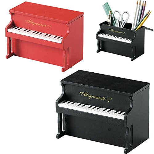 セトクラフト ペンスタンド&小物入れ(ウッドピアノ) SW-1101-140 レッド
