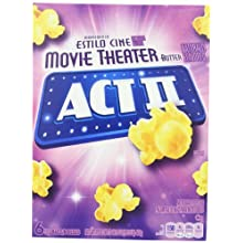 Act II Popcorn, Movie Theater Butter, 2.75 oz. Bags, 6 Count (Pack of 6)