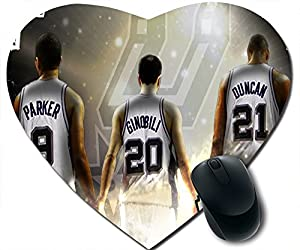 com diy and custom heart shape mousepad san antonio spurs logo. Black Bedroom Furniture Sets. Home Design Ideas