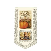 Heritage Lace Thanks Family and Friends 12-Inch by 21-Inch Wall Hanging Ecru