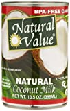 Natural Value Coconut Milk, 13.5 Ounce Cans (Pack of 12)