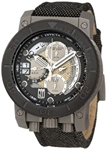 Jason Taylor Chronograph Diver Stainless Steel Case Black Dial Nylon and Leather Strap 1000M