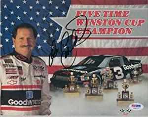 DALE EARNHARDT SIGNED AUTOGRAPHED 8x10 PHOTO - PSA DNA Certified - Autographed NASCAR... by Sports Memorabilia