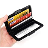 SODIAL(TM) Aluminium Case Credit Card Holder Metal Wallet, One Size in Silver