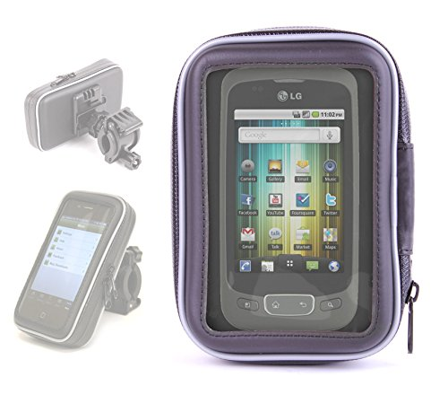DURAGADGET Splash Proof Phone Case With Bike Mount For LG Optimus One, V (Virgin Mobile) & MS840 Connect 4G (MetroPCS) (Lg Gm360 Case compare prices)