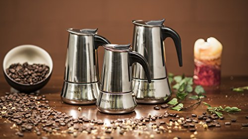 Ovente Mpe06 6-Cup Stovetop Stainless Steel Espresso Maker