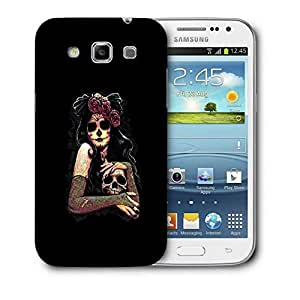 Snoogg Scary Girl With Skull Designer Protective Back Case Cover For Samsung Galaxy Win i8552