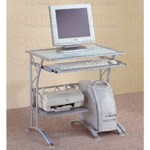 Buy Low Price Comfortable Silver Compact Computer Desk (B003XRAB1K)