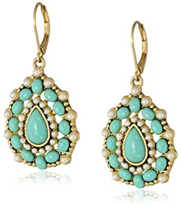 "Carolee ""Little Surfer Girl"" Teardrop Earrings"
