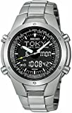 Seiko #SNJ009 Men's Titanium Analog Digital Alarm Chronograph World Time Watch