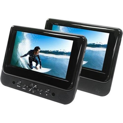 "Ematic Ed717 7"" Dual Screen DVD Player"
