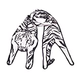 Silk Tiger Scarf by Cleo Ferin Mercury