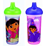 Munchkin Two Dora the Explorer 9 oz Big Kid Insulated Cup ~ Munchkin