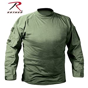Rothco Military Combat Shirt - Large - Olive Drab