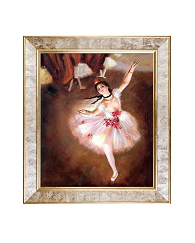 Edgar Degas' Star Dancer (On Stage) Framed Hand Painted Oil on Canvas, Multi, 30″ x 26″