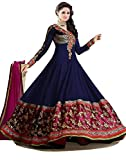 Fab Glory Women Georgette Dress Material (Fab Glory _Blue _Free Size)