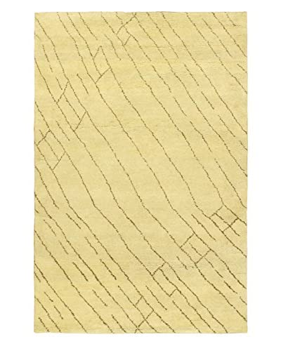 Hand-Knotted Marrakech Rug, Cream, 5' 1 x 7' 10