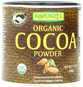 Rapunzel Pure Organic Cocoa Powder, 7.1-Ounce Packages (Pack of 3)