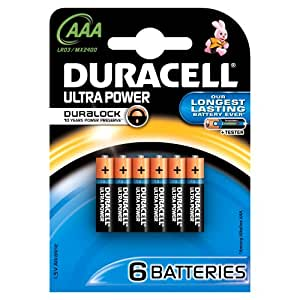 Duracell - Pile Alcaline - Duralock AAAx6 Ultra Power (LR03)