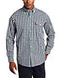 U.S. Polo Assn. Mens Plaid Yarn Dyed Poplin Shirt