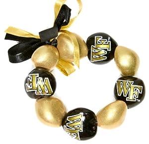 Buy NCAA Wake Forest Demon Deacons Go Nuts Kukui Nut Bracelet by Style Pasifika