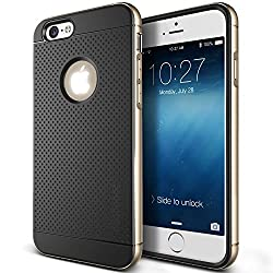 Kapa Dotted Ultra Thin Shock proof Hybrid Back Case Cover for Apple iPhone 6 6S - Gold
