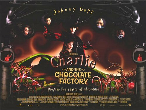 Description  Charlie and the Chocolate Factory Movie Poster - Canvas    Charlie And The Chocolate Factory Movie Poster
