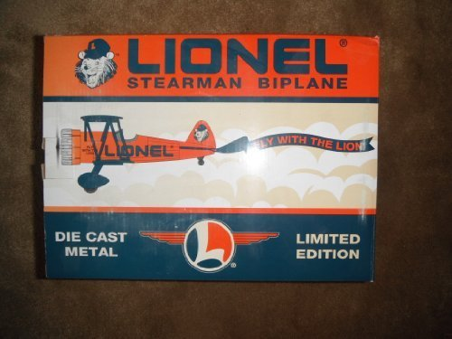 Lionel Stearman Biplane Fly With the Lion Airplane Die Cast Coin Bank - 1